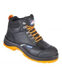 Black Leather Reflecto Safety Boot S1P