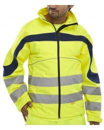 "Hi-Vis ""Soft shell"" Jacket Yellow"